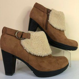 Naturalizer Tarrin Brown Faux Suede Ankle Bootie